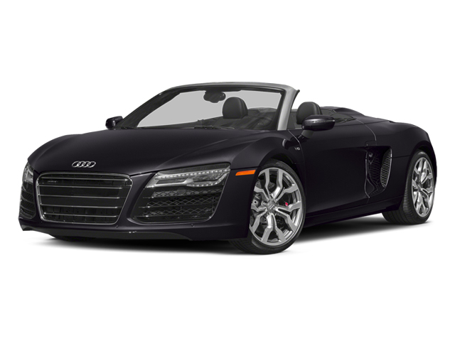 Panther Black Crystal Effect/Black Roof 2014 Audi R8 Pictures R8 2 Door Convertible Quattro Spyder V10 (Manual) photos front view