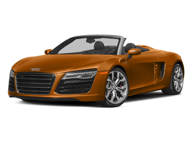 Samoa Orange Metallic/Black Roof 2014 Audi R8 Pictures R8 2 Door Convertible Quattro Spyder V10 (Manual) photos front view