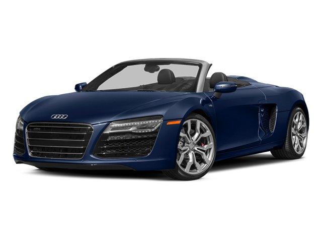 Estoril Blue Crystal Effect/Black Roof 2014 Audi R8 Pictures R8 2 Door Convertible Quattro Spyder V10 (Manual) photos front view