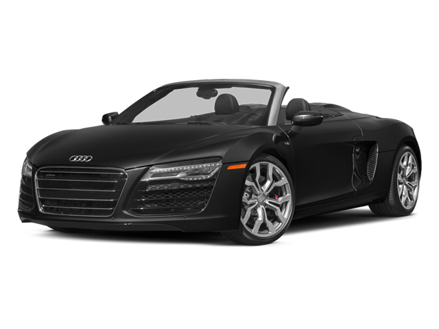 Phantom Black Pearl Effect/Black Roof 2014 Audi R8 Pictures R8 2 Door Convertible Quattro Spyder V10 (Manual) photos front view