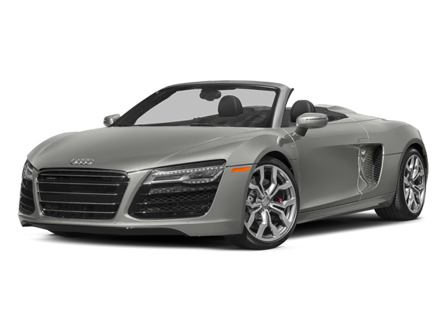 Suzuka Gray Metallic/Black Roof 2014 Audi R8 Pictures R8 2 Door Convertible Quattro Spyder V10 (Manual) photos front view