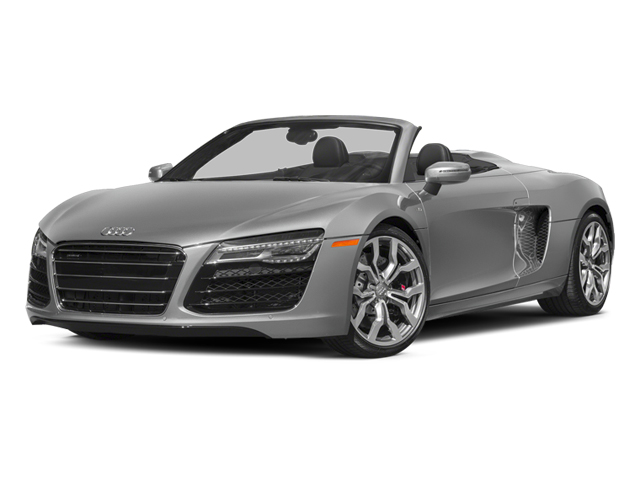 Ice Silver Metallic/Black Roof 2014 Audi R8 Pictures R8 2 Door Convertible Quattro Spyder V10 (Manual) photos front view