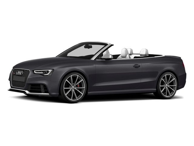 Nardo Gray/Black Roof 2014 Audi RS 5 Pictures RS 5 Convertible 2D RS5 AWD V8 photos front view