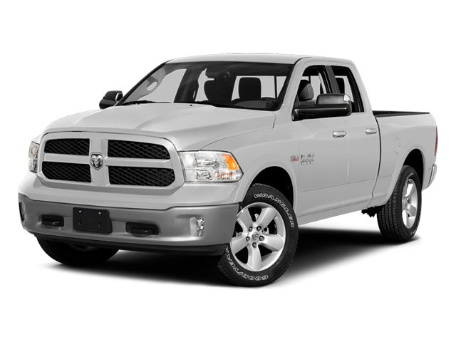 Bright White Clearcoat 2014 Ram Truck 1500 Pictures 1500 Quad Cab Express 4WD photos front view