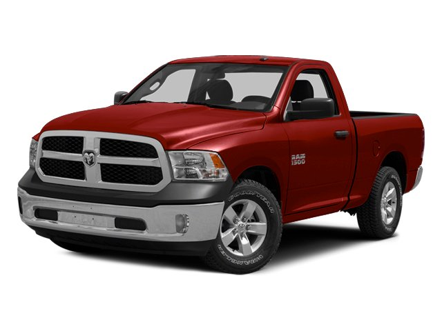 Bright Red 2014 Ram Truck 1500 Pictures 1500 Regular Cab Tradesman 4WD photos front view