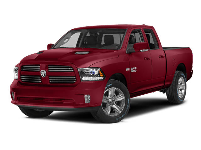Deep Cherry Red Crystal Pearlcoat 2014 Ram Truck 1500 Pictures 1500 Quad Cab Sport 2WD photos front view