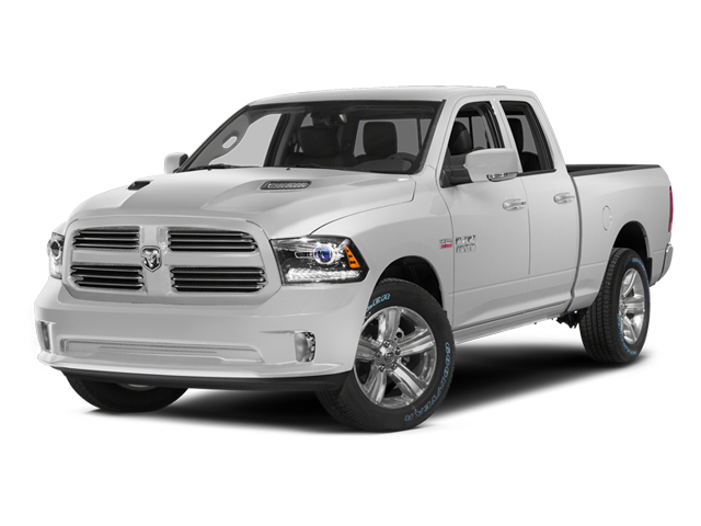 Bright White Clearcoat 2014 Ram Truck 1500 Pictures 1500 Quad Cab Sport 2WD photos front view