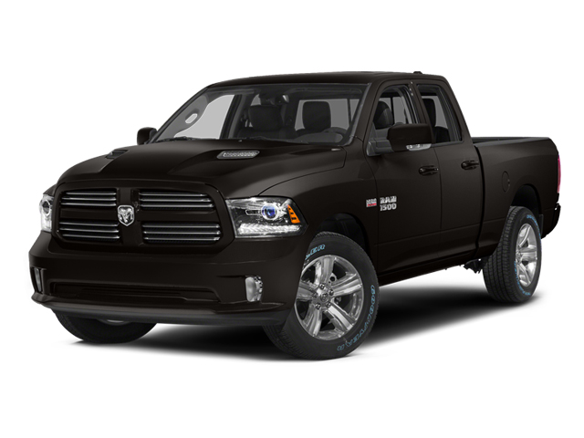 Black Clearcoat 2014 Ram Truck 1500 Pictures 1500 Quad Cab Sport 2WD photos front view