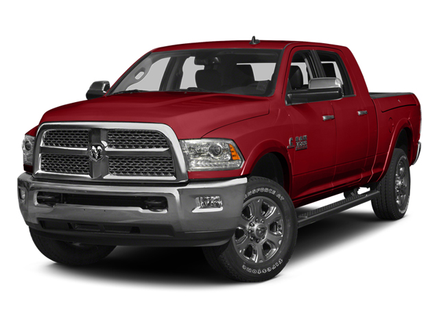 Bright Red 2014 Ram Truck 3500 Pictures 3500 Mega Cab SLT 2WD photos front view