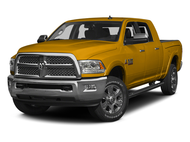 Construction Yellow 2014 Ram Truck 3500 Pictures 3500 Mega Cab SLT 2WD photos front view