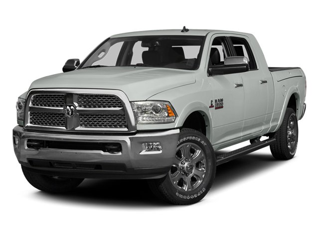 Bright White Clearcoat 2014 Ram Truck 3500 Pictures 3500 Mega Cab SLT 2WD photos front view