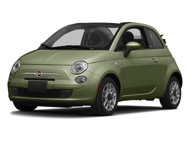 Verde Oliva (Olive Green) 2014 FIAT 500c Pictures 500c Convertible 2D Lounge I4 photos front view