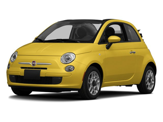 Giallo (Yellow) 2014 FIAT 500c Pictures 500c Convertible 2D Lounge I4 photos front view
