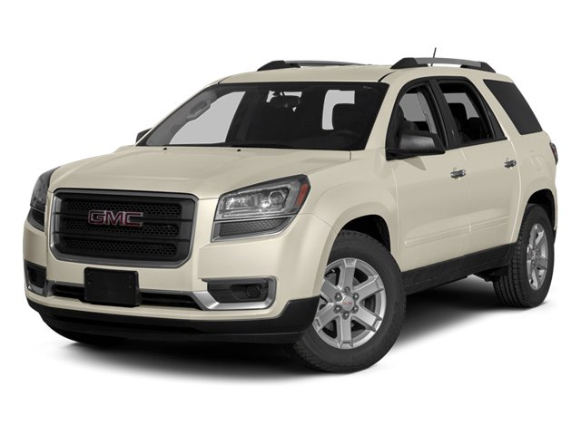 White Diamond Tricoat 2014 GMC Acadia Pictures Acadia Wagon 4D SLE 2WD photos front view