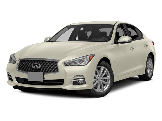 Moonlight White 2014 INFINITI Q50 Pictures Q50 Sedan 4D AWD V6 photos front view