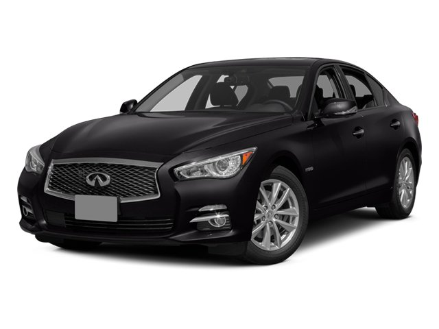Malbec Black 2014 INFINITI Q50 Pictures Q50 Sedan 4D Premium AWD V6 Hybrid photos front view
