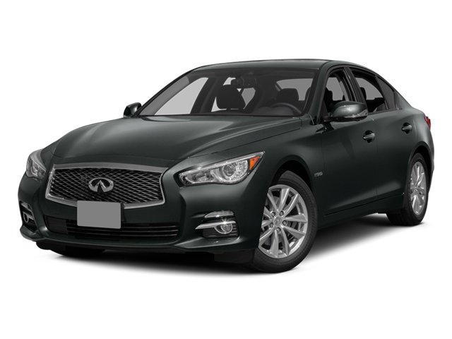 Graphite Shadow 2014 INFINITI Q50 Pictures Q50 Sedan 4D Premium AWD V6 Hybrid photos front view
