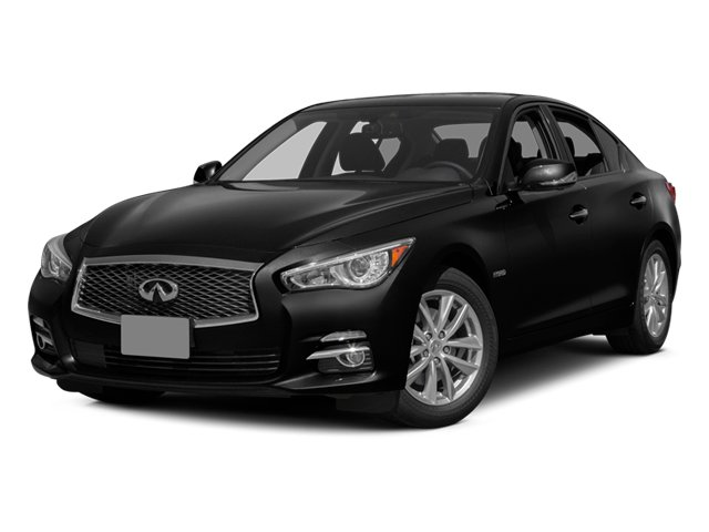 Black Obsidian 2014 INFINITI Q50 Pictures Q50 Sedan 4D Premium AWD V6 Hybrid photos front view