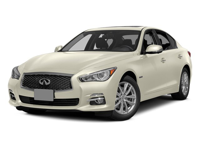 Moonlight White 2014 INFINITI Q50 Pictures Q50 Sedan 4D Sport V6 Hybrid photos front view