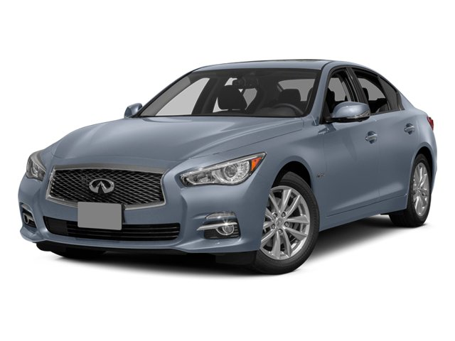 Hagane Blue 2014 INFINITI Q50 Pictures Q50 Sedan 4D Sport V6 Hybrid photos front view