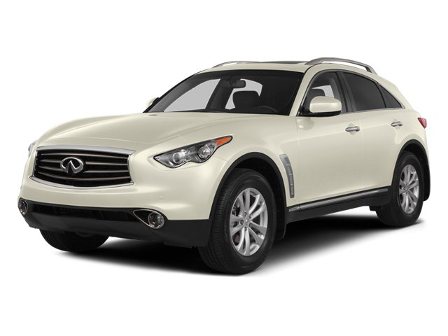 Moonlight White 2014 INFINITI QX70 Pictures QX70 Utility 4D AWD V8 photos front view