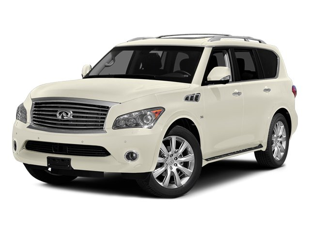 Moonlight White 2014 INFINITI QX80 Pictures QX80 Utility 4D 2WD V8 photos front view