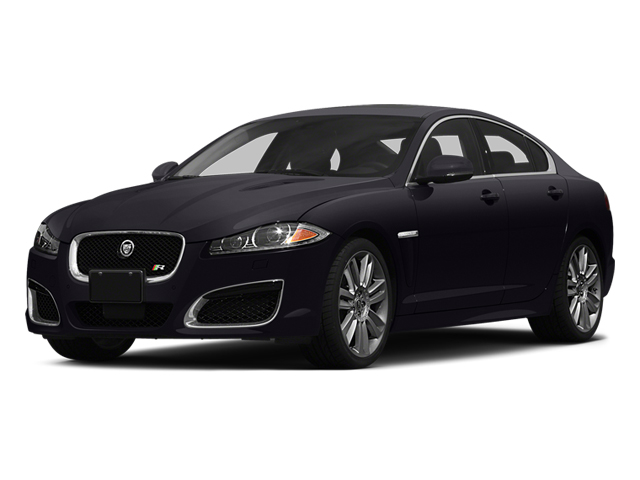 Ultimate Black Metallic 2014 Jaguar XF Pictures XF Sedan 4D XFR-S V8 Supercharged photos front view