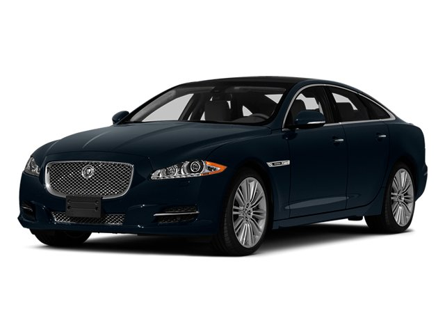 Dark Sapphire Metallic 2014 Jaguar XJ Pictures XJ Sedan 4D L XJR V8 Supercharged photos front view
