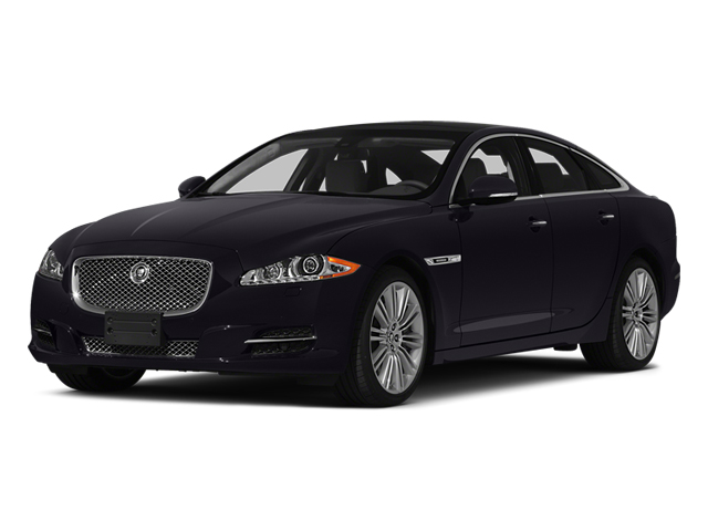 Ultimate Black Metallic 2014 Jaguar XJ Pictures XJ Sedan 4D L XJR V8 Supercharged photos front view