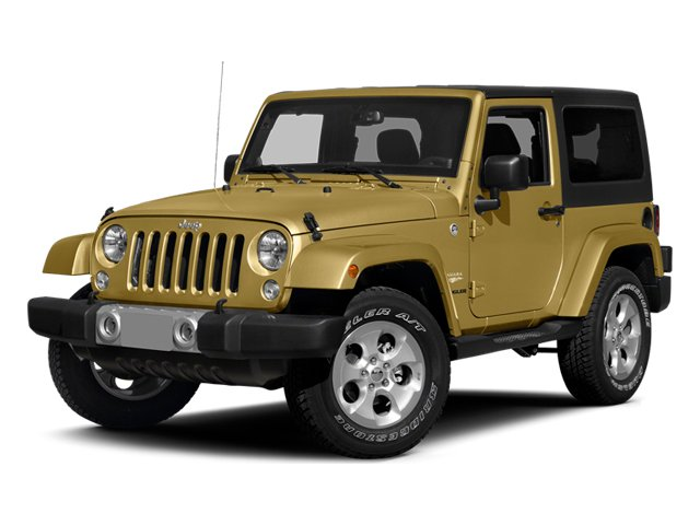 Dune Clear Coat 2014 Jeep Wrangler Pictures Wrangler Utility 2D Rubicon 4WD V6 photos front view