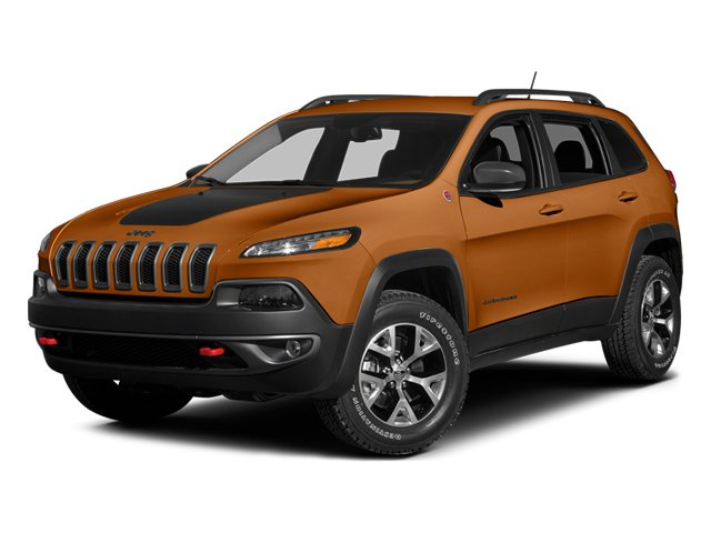 Mango Tango Pearlcoat 2014 Jeep Cherokee Pictures Cherokee Utility 4D Trailhawk 4WD photos front view