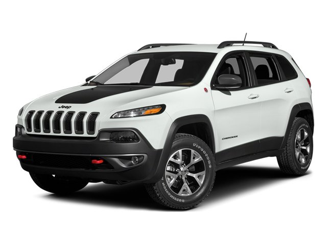 Bright White Clearcoat 2014 Jeep Cherokee Pictures Cherokee Utility 4D Trailhawk 4WD photos front view