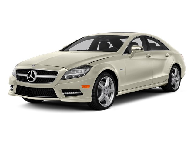 Diamond White Metallic 2014 Mercedes-Benz CLS-Class Pictures CLS-Class Sedan 4D CLS550 photos front view