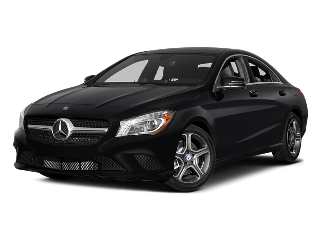 Night Black 2014 Mercedes-Benz CLA-Class Pictures CLA-Class Sedan 4D CLA250 AWD I4 Turbo photos front view