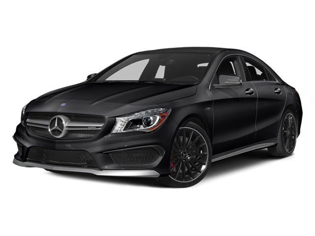 Cosmos Black Metallic 2014 Mercedes-Benz CLA-Class Pictures CLA-Class Sedan 4D CLA45 AMG AWD I4 Turbo photos front view