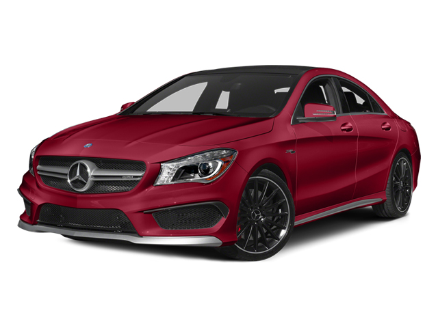 Jupiter Red 2014 Mercedes-Benz CLA-Class Pictures CLA-Class Sedan 4D CLA45 AMG AWD I4 Turbo photos front view