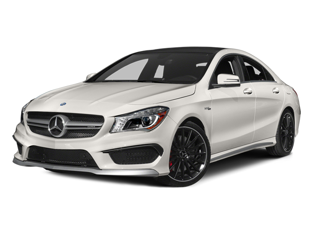 Cirrus White 2014 Mercedes-Benz CLA-Class Pictures CLA-Class Sedan 4D CLA45 AMG AWD I4 Turbo photos front view