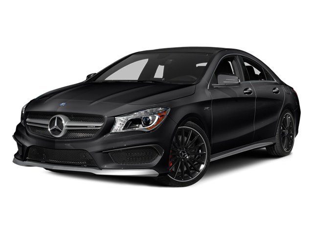 Night Black 2014 Mercedes-Benz CLA-Class Pictures CLA-Class Sedan 4D CLA45 AMG AWD I4 Turbo photos front view