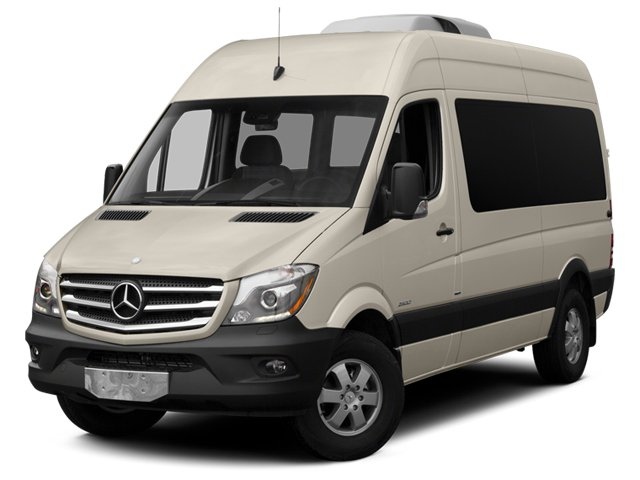 Stone Gray 2014 Mercedes-Benz Sprinter Passenger Vans Pictures Sprinter Passenger Vans Passenger Van High Roof photos front view