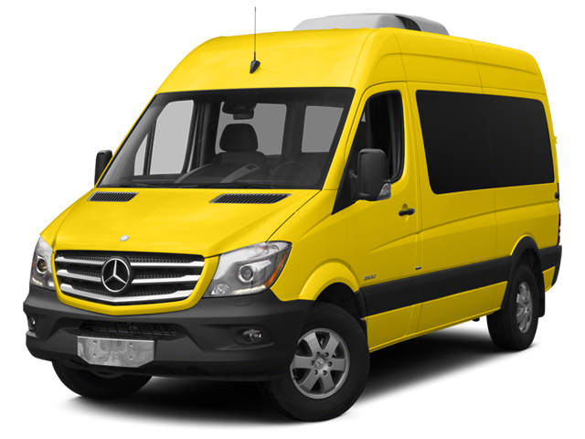 Broom Yellow 2014 Mercedes-Benz Sprinter Passenger Vans Pictures Sprinter Passenger Vans Passenger Van photos front view