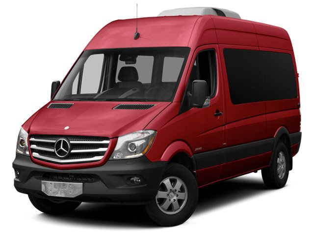Jupiter Red 2014 Mercedes-Benz Sprinter Passenger Vans Pictures Sprinter Passenger Vans Passenger Van photos front view