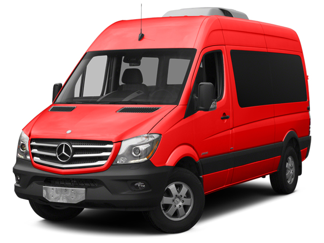 Coca Cola Red 2014 Mercedes-Benz Sprinter Passenger Vans Pictures Sprinter Passenger Vans Passenger Van photos front view