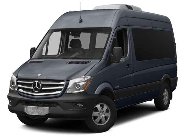 Graphite Gray Metallic 2014 Mercedes-Benz Sprinter Passenger Vans Pictures Sprinter Passenger Vans Passenger Van photos front view