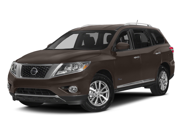 Mocha Stone 2014 Nissan Pathfinder Pictures Pathfinder Utility 4D Platinum 2WD I4 Hybrid photos front view