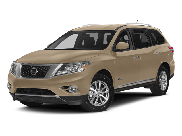 Desert Sand 2014 Nissan Pathfinder Pictures Pathfinder Utility 4D Platinum 2WD I4 Hybrid photos front view