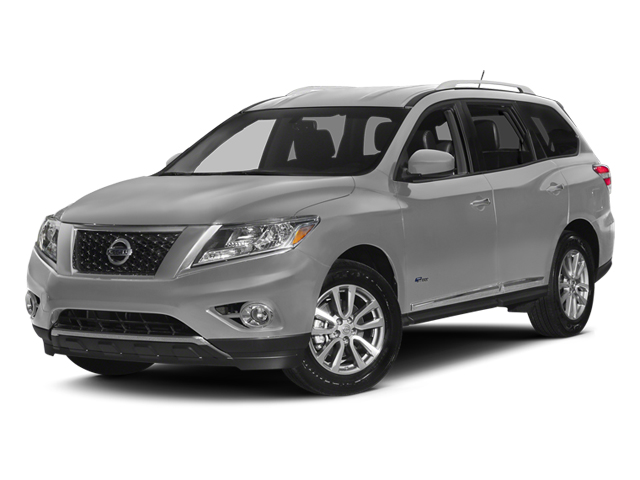 Brilliant Silver 2014 Nissan Pathfinder Pictures Pathfinder Utility 4D Platinum 2WD I4 Hybrid photos front view