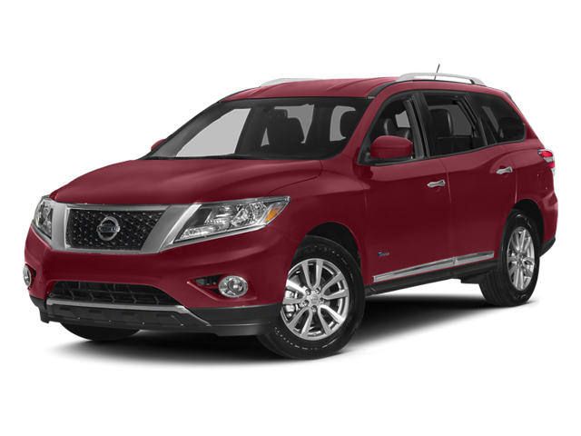 Cayenne Red 2014 Nissan Pathfinder Pictures Pathfinder Utility 4D Platinum 2WD I4 Hybrid photos front view