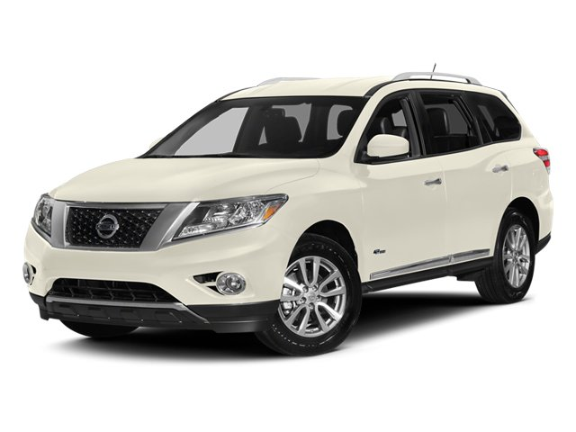 Moonlight White 2014 Nissan Pathfinder Pictures Pathfinder Utility 4D Platinum 2WD I4 Hybrid photos front view
