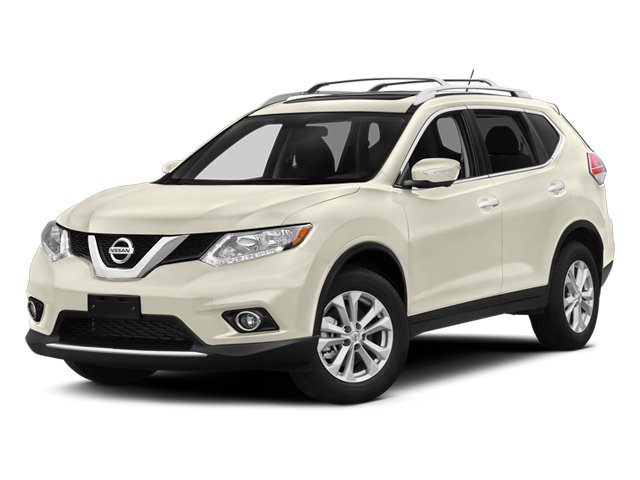 Moonlight White 2014 Nissan Rogue Pictures Rogue Utility 4D SL AWD I4 photos front view