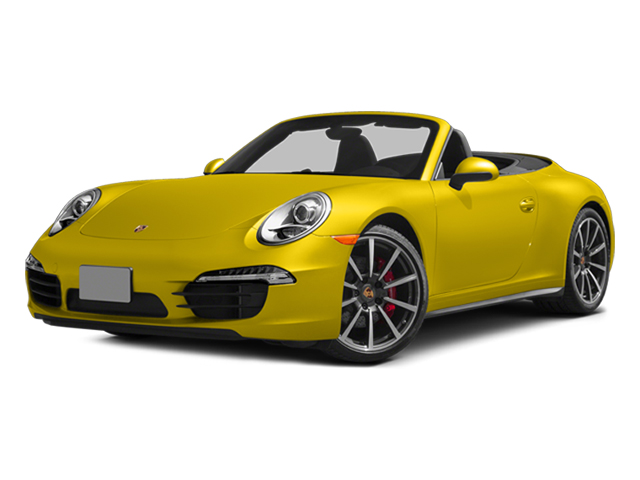 Racing Yellow 2014 Porsche 911 Pictures 911 Cabriolet 2D 4 AWD H6 photos front view